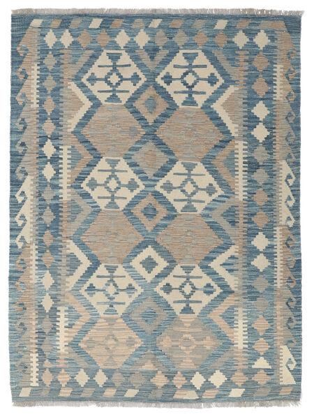 Kelim Afghan Old Style Matto 139X188 Itämainen Käsinkudottu Vaaleanharmaa/Sininen (Villa, Afganistan)