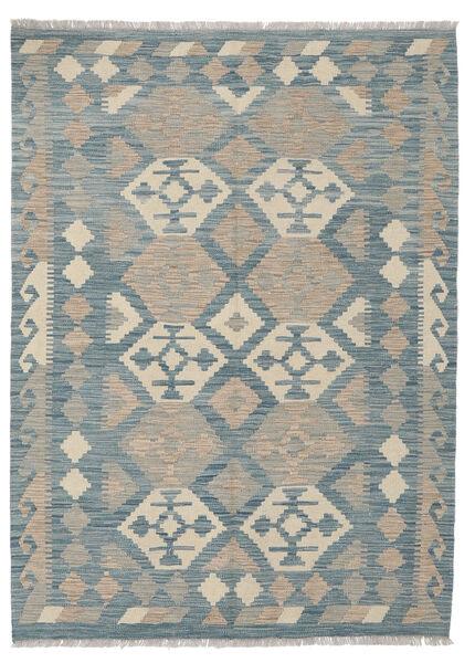 Kelim Afghan Old Style Matto 124X170 Itämainen Käsinkudottu Vaaleanharmaa/Sininen (Villa, Afganistan)