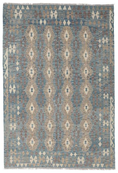 Kelim Afghan Old Style Matto 181X261 Itämainen Käsinkudottu Vaaleanharmaa/Tummanharmaa/Sininen (Villa, Afganistan)