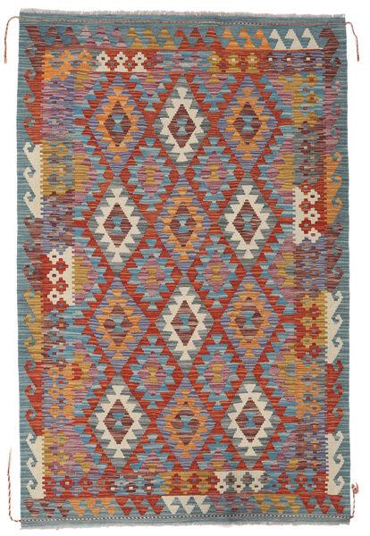 Kelim Afghan Old Style Matto 121X188 Itämainen Käsinkudottu Vaaleanharmaa/Tummanpunainen (Villa, Afganistan)