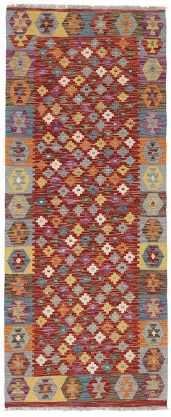 Kelim Afghan Old Style Matto 79X195 Itämainen Käsinkudottu Käytävämatto Tummanpunainen/Vaaleanruskea (Villa, Afganistan)