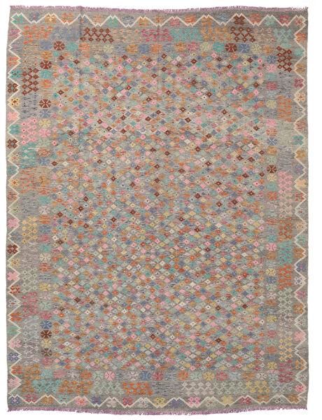 Kelim Afghan Old Style Matto 306X388 Itämainen Käsinkudottu Vaaleanharmaa Isot (Villa, Afganistan)