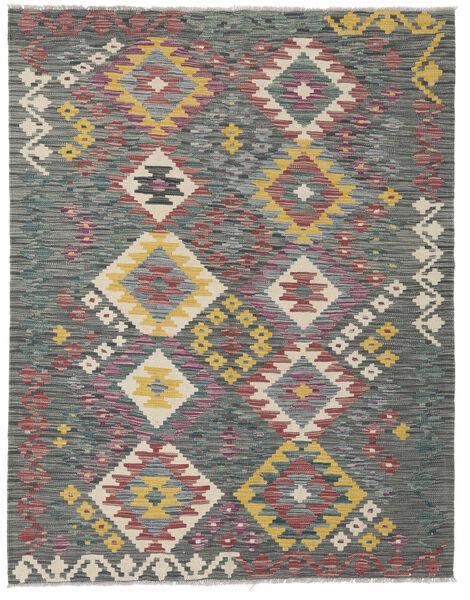 Kelim Afghan Old Style Matto 131X169 Itämainen Käsinkudottu Vaaleanharmaa/Tummanruskea (Villa, Afganistan)