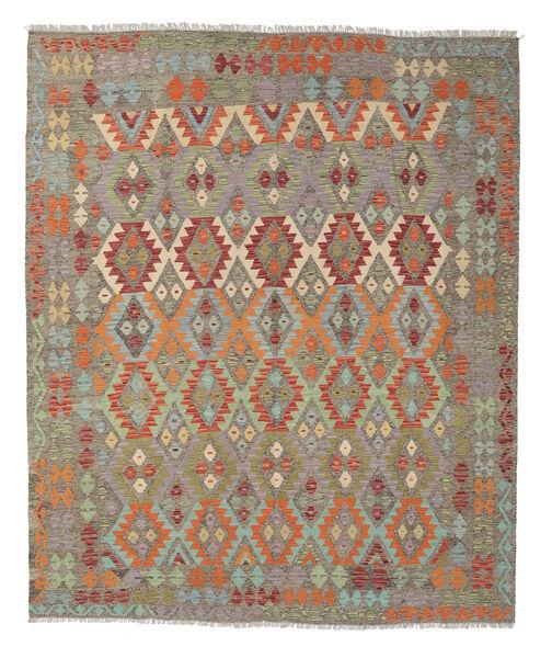 Kelim Afghan Old Style Matto 258X298 Itämainen Käsinkudottu Vaaleanharmaa/Vaaleanruskea Isot (Villa, Afganistan)