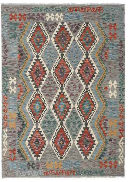 Kelim Afghan Old Style Matto 172X240 Itämainen Käsinkudottu Vaaleanharmaa/Tummanharmaa (Villa, Afganistan)