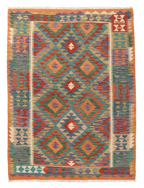 Kelim Afghan Old Style Matto 129X174 Itämainen Käsinkudottu Tummanharmaa/Punainen (Villa, Afganistan)