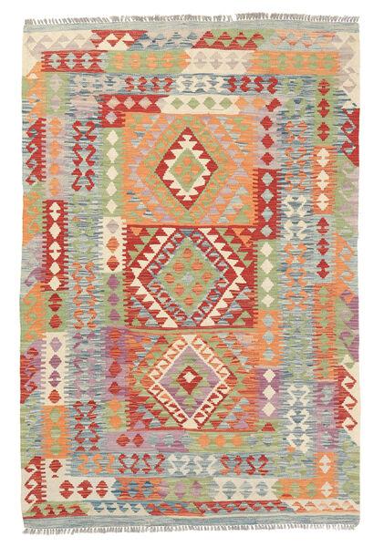Kelim Afghan Old Style Matto 124X186 Itämainen Käsinkudottu Vaaleanharmaa/Tummanbeige (Villa, Afganistan)