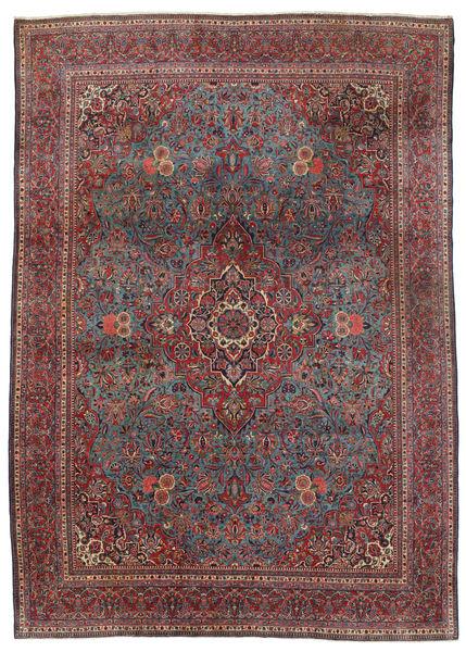 Keshan Matto 240X339 Itämainen Käsinsolmittu Tummanruskea/Tummanpunainen (Villa, Persia/Iran)