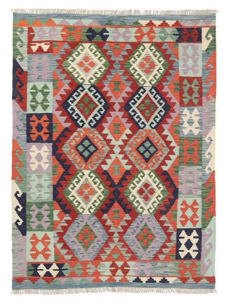 Kelim Afghan Old Style Matto 127X171 Itämainen Käsinkudottu Vaaleanharmaa/Tummanharmaa (Villa, Afganistan)