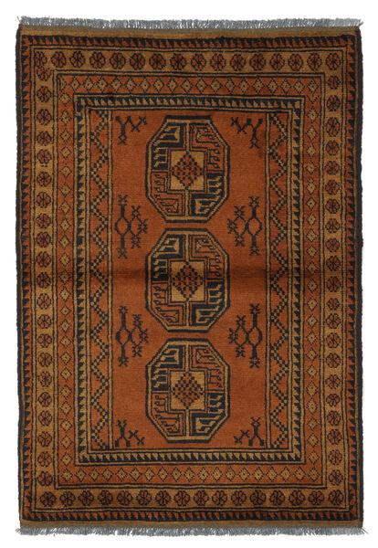 Afghan Matto 100X148 Itämainen Käsinsolmittu Ruskea/Tummanruskea (Villa, Afganistan)