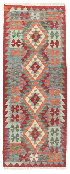 Kelim Afghan Old Style Matto 74X191 Itämainen Käsinkudottu Käytävämatto Tummanharmaa/Vaaleanharmaa (Villa, Afganistan)