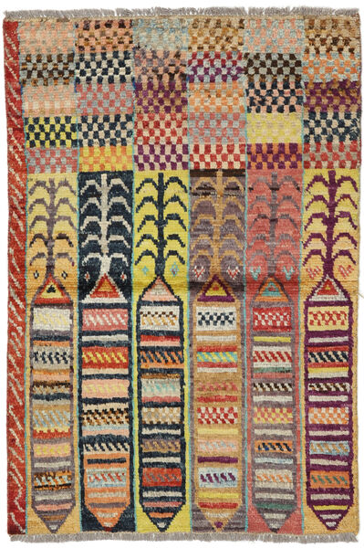 Moroccan Berber - Afghanistan Matto 88X132 Moderni Käsinsolmittu Tummanbeige/Tummanpunainen/Tummanharmaa (Villa, Afganistan)
