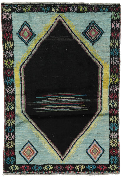 Moroccan Berber - Afghanistan Matto 88X125 Moderni Käsinsolmittu Musta/Tummanvihreä (Villa, Afganistan)