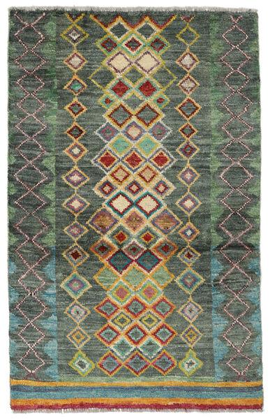 Moroccan Berber - Afghanistan Matto 89X135 Moderni Käsinsolmittu Tummanvihreä/Tummanvihreä (Villa, Afganistan)