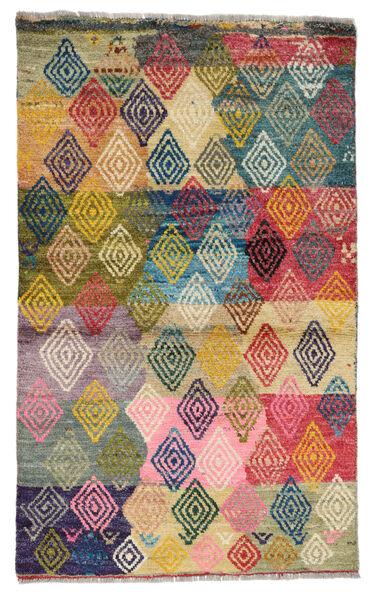 Moroccan Berber - Afghanistan Matto 84X140 Moderni Käsinsolmittu Tummanharmaa/Tummanbeige (Villa, Afganistan)