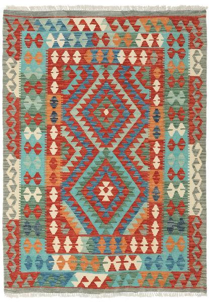 Kelim Afghan Old Style Matto 123X170 Itämainen Käsinkudottu Ruoste (Villa, Afganistan)
