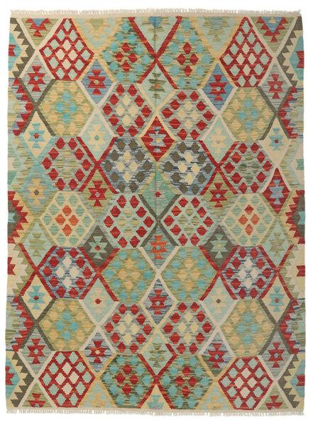Kelim Afghan Old Style Matto 149X194 Itämainen Käsinkudottu Tummanvihreä/Tummanruskea (Villa, Afganistan)
