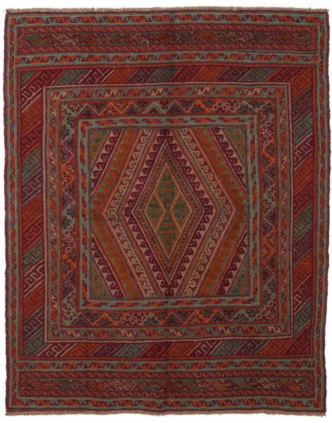 Kelim Golbarjasta Matto 145X185 Itämainen Käsinkudottu Musta/Tummanruskea (Villa, Afganistan)