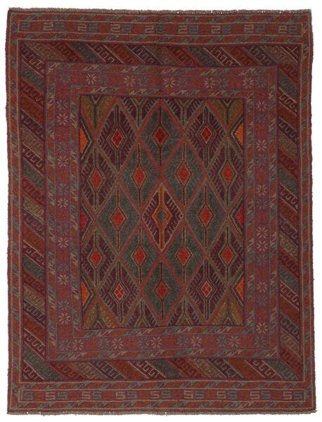 Kelim Golbarjasta Matto 145X190 Itämainen Käsinkudottu Musta (Villa, Afganistan)