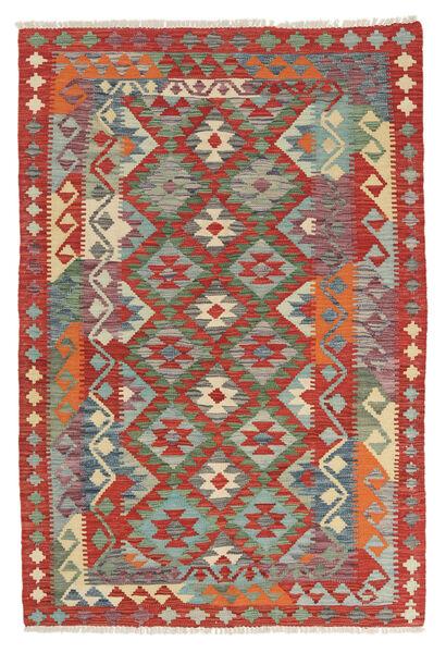 Kelim Afghan Old Style Matto 121X178 Itämainen Käsinkudottu Tummanvihreä/Tummanruskea (Villa, Afganistan)