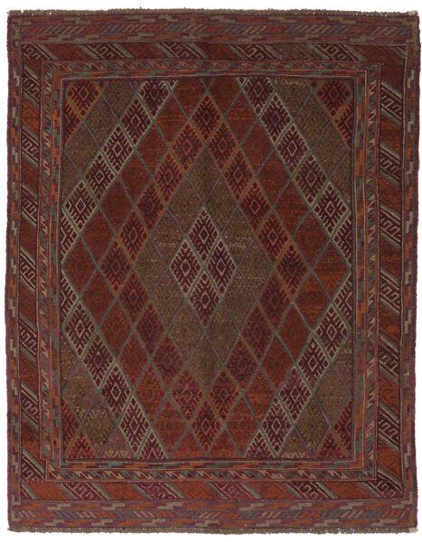 Kelim Golbarjasta Matto 150X190 Itämainen Käsinkudottu Musta/Tummanruskea (Villa, Afganistan)