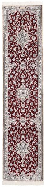 Nain 9La Matto 70X301 Itämainen Käsinsolmittu Käytävämatto Tummanruskea/Musta (Villa/Silkki, Persia/Iran)