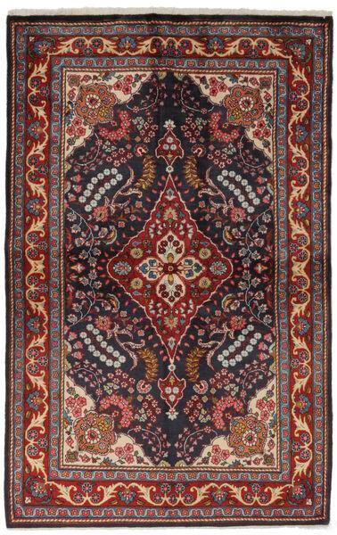 Golpayegan Matto 134X209 Itämainen Käsinsolmittu Musta/Tummanruskea (Villa, Persia/Iran)
