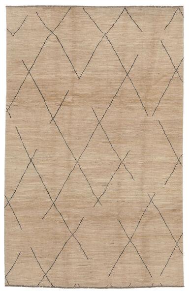 Moroccan Berber - Afghanistan Matto 192X297 Moderni Käsinsolmittu Ruskea/Beige (Villa, Afganistan)