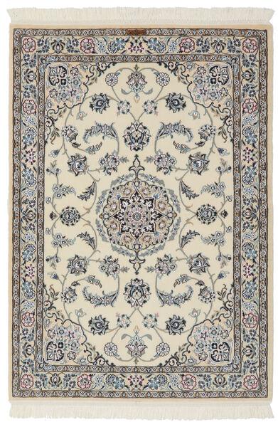 Nain 9La Matto 105X154 Itämainen Käsinsolmittu Tummanharmaa/Oliivinvihreä (Villa/Silkki, Persia/Iran)