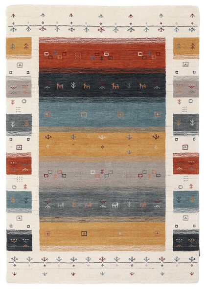 Loribaf Loom Designer - Multi Matto 120X180 Moderni Beige/Tummanruskea (Villa, Intia)