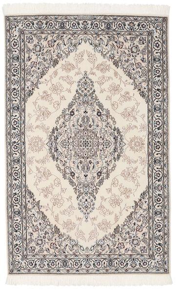 Nain 9La Matto 119X190 Itämainen Käsinsolmittu Tummanharmaa/Vaaleanharmaa (Villa/Silkki, Persia/Iran)