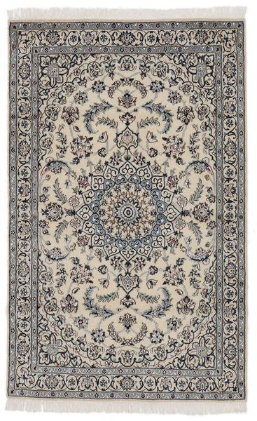 Nain 9La Matto 114X183 Itämainen Käsinsolmittu Tummanharmaa/Musta (Villa/Silkki, Persia/Iran)