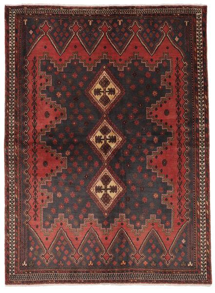 Afshar Matto 168X226 Itämainen Käsinsolmittu Musta/Tummanruskea (Villa, Persia/Iran)