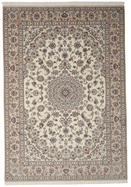 Nain 9La Matto 246X349 Itämainen Käsinsolmittu Tummanruskea/Tummanharmaa (Villa/Silkki, Persia/Iran)