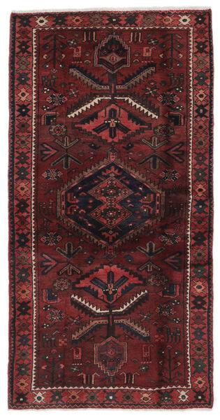 Hamadan Matto 106X210 Itämainen Käsinsolmittu Musta/Tummanruskea (Villa, Persia/Iran)