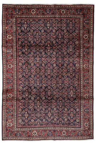 Mahal Matto 205X302 Itämainen Käsinsolmittu Musta/Tummanruskea (Villa, Persia/Iran)