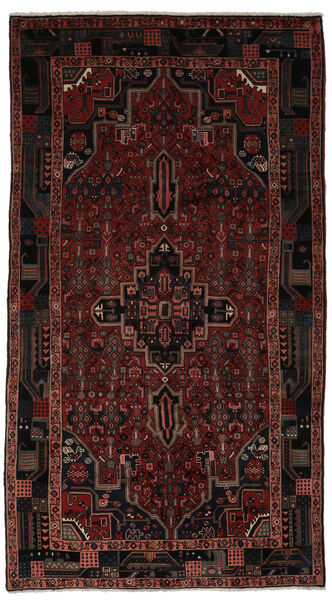 Koliai Matto 153X298 Itämainen Käsinsolmittu Käytävämatto Musta (Villa, Persia/Iran)