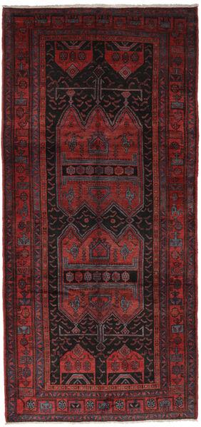 Gholtogh Matto 152X330 Itämainen Käsinsolmittu Käytävämatto Musta/Tummanpunainen (Villa, Persia/Iran)