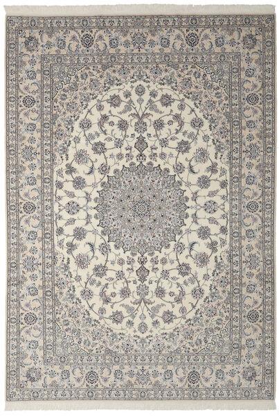 Nain 9La Matto 252X358 Itämainen Käsinsolmittu Tummanharmaa/Oliivinvihreä Isot (Villa/Silkki, Persia/Iran)