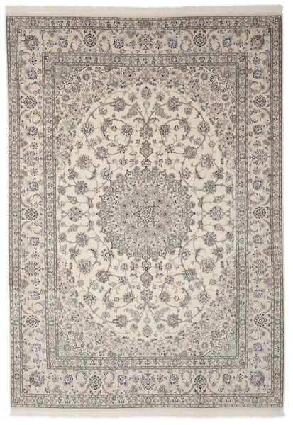 Nain 9La Matto 250X355 Itämainen Käsinsolmittu Tummanharmaa/Vaaleanharmaa Isot (Villa/Silkki, Persia/Iran)