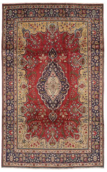 Tabriz Matto 186X300 Itämainen Käsinsolmittu Tummanruskea/Ruskea (Villa, Persia/Iran)