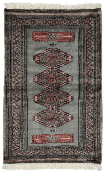 Pakistan Bokhara 3Ply Matto 97X152 Itämainen Käsinsolmittu Musta/Tummanharmaa (Villa, Pakistan)