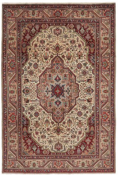 Tabriz Matto 200X300 Itämainen Käsinsolmittu Tummanruskea/Musta (Villa, Persia/Iran)