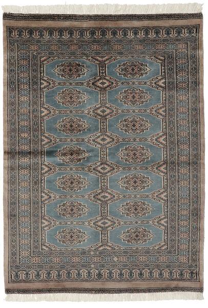 Pakistan Bokhara 3Ply Matto 122X172 Itämainen Käsinsolmittu Tummanharmaa/Tummanruskea/Musta (Villa, Pakistan)