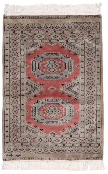 Pakistan Bokhara 2Ply Matto 80X114 Itämainen Käsinsolmittu Tummanruskea/Tummanharmaa (Villa, Pakistan)