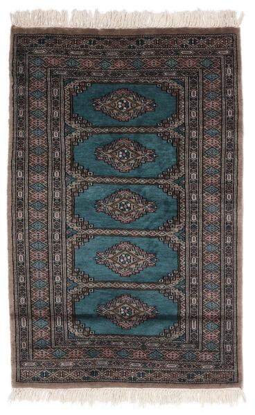 Pakistan Bokhara 2Ply Matto 74X118 Itämainen Käsinsolmittu Musta/Tummanruskea (Villa, Pakistan)