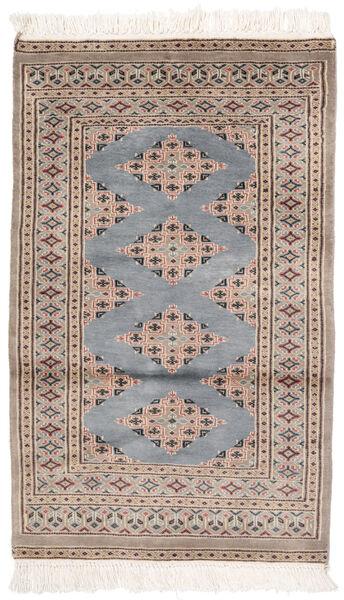 Pakistan Bokhara 2Ply Matto 77X125 Itämainen Käsinsolmittu Ruskea/Tummanharmaa (Villa, Pakistan)