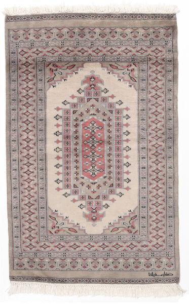 Pakistan Bokhara 2Ply Matto 78X124 Itämainen Käsinsolmittu Vaaleanruskea/Tummanruskea (Villa, Pakistan)