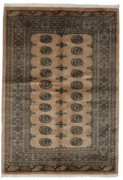 Pakistan Bokhara 3Ply Matto 142X203 Itämainen Käsinsolmittu Tummanruskea/Musta (Villa, Pakistan)