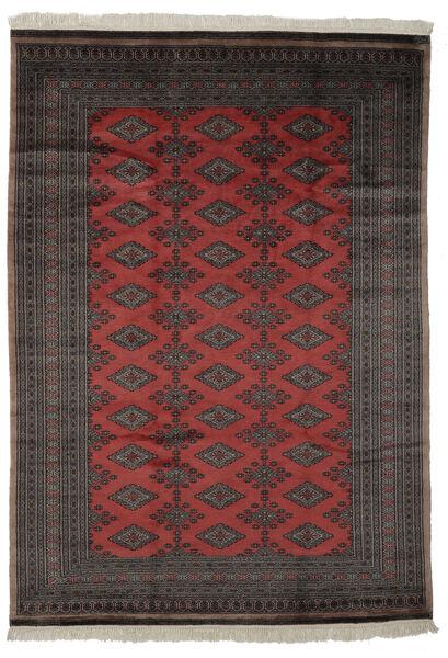 Pakistan Bokhara 3Ply Matto 184X261 Itämainen Käsinsolmittu Musta/Tummanruskea (Villa, Pakistan)